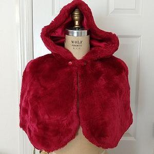 Disney Faux Fur Hooded Cape